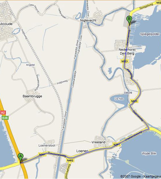map A2-nederhorst serviceconnection